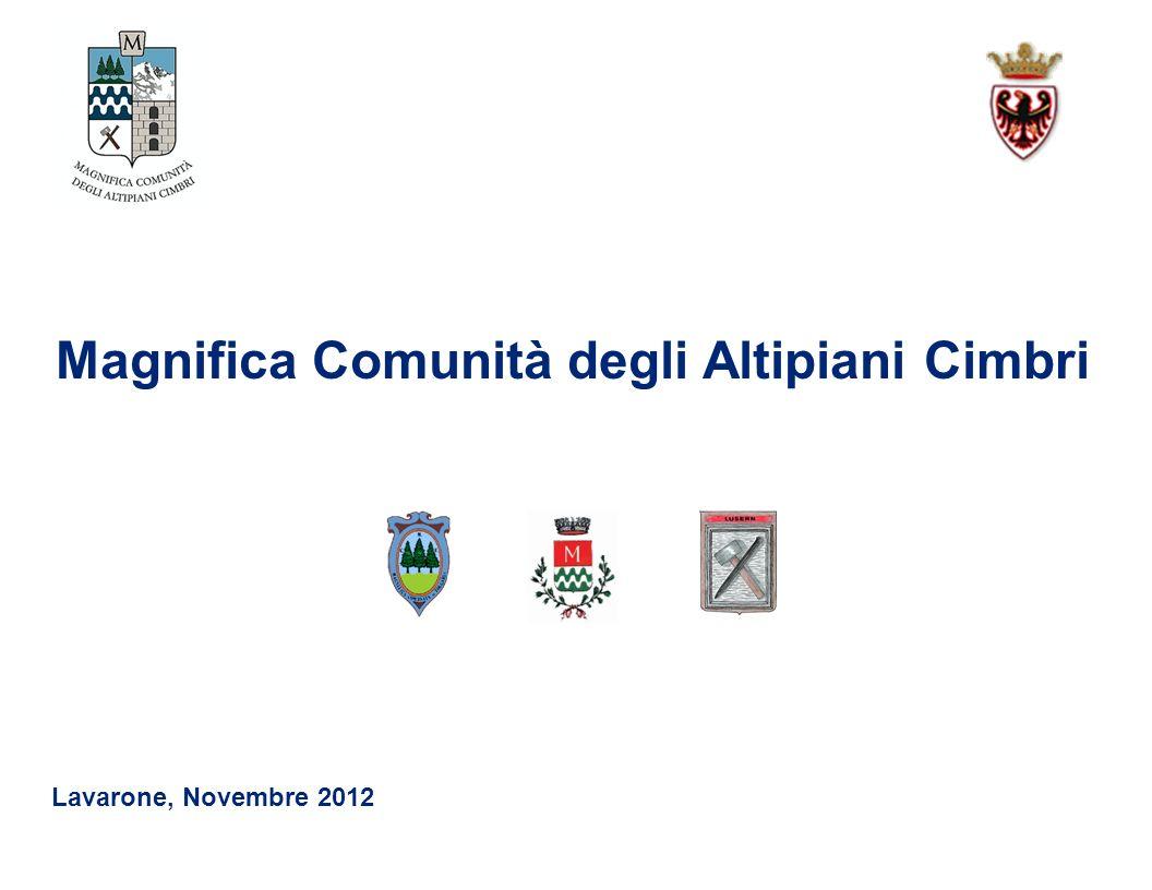 Magnifica Comunità degli Altipiani Cimbri Lavarone, Novembre 2012