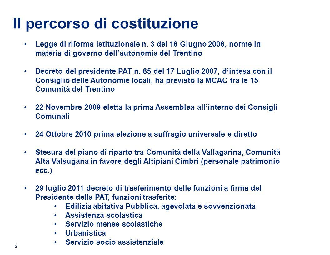 Il percorso di costituzione 2 Legge di riforma istituzionale n.