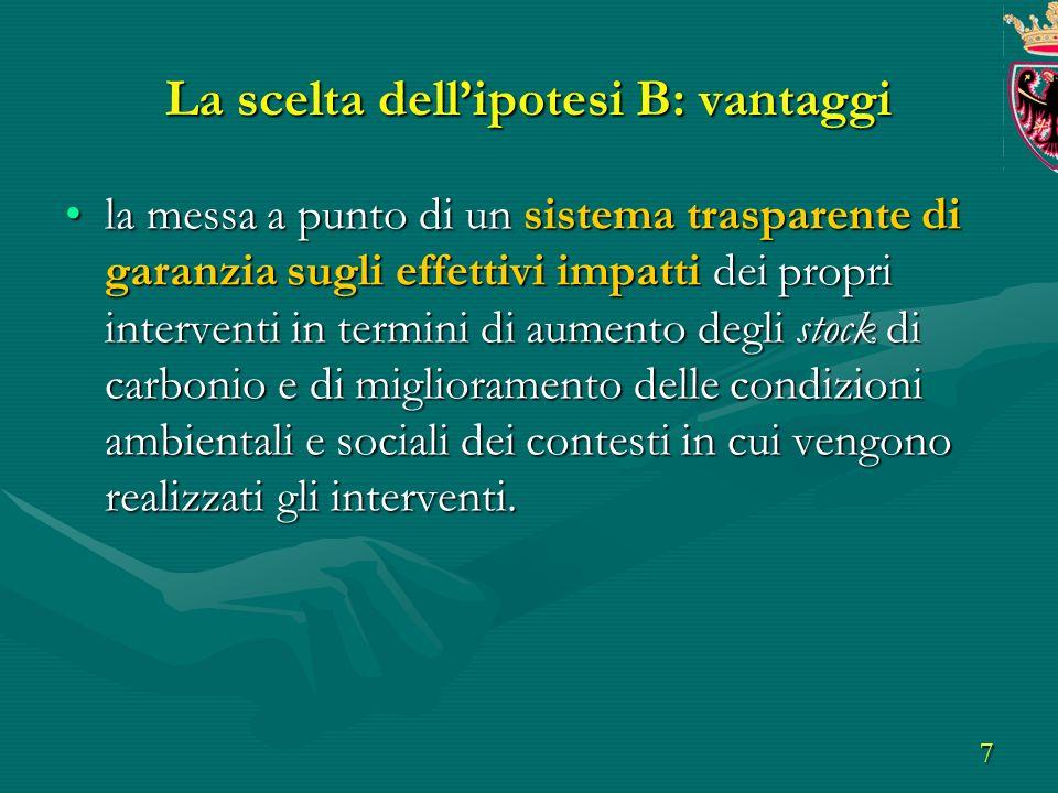 8 OBIETTIVI lobiettivo e una compensazione di un 10% aggiuntivo a quanto previsto dal PIANO ENERGETICO -AMBIENTALE della Provincia di Trento tramite azioni in campo forestale in paesi in via di sviluppo