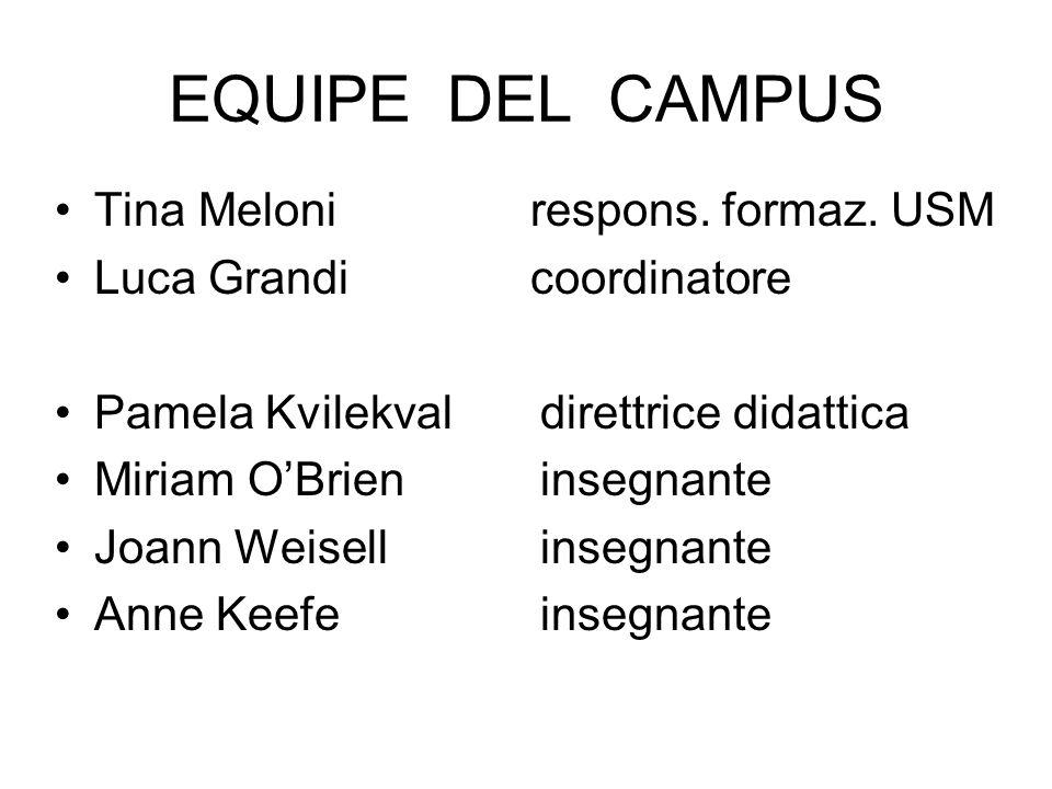 EQUIPE DEL CAMPUS Tina Meloni respons.formaz.