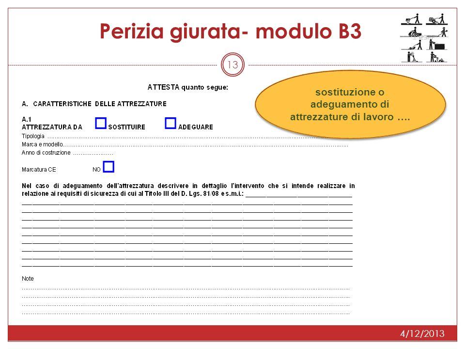 13 Perizia giurata- modulo B3 sostituzione o adeguamento di attrezzature di lavoro ….