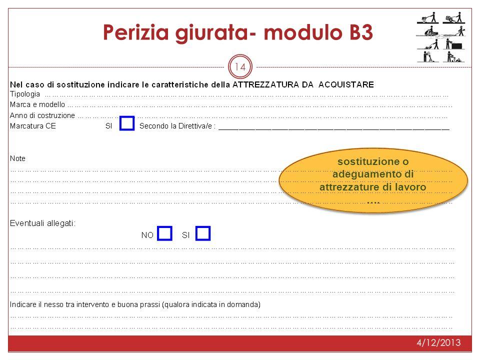 14 Perizia giurata- modulo B3 sostituzione o adeguamento di attrezzature di lavoro ….