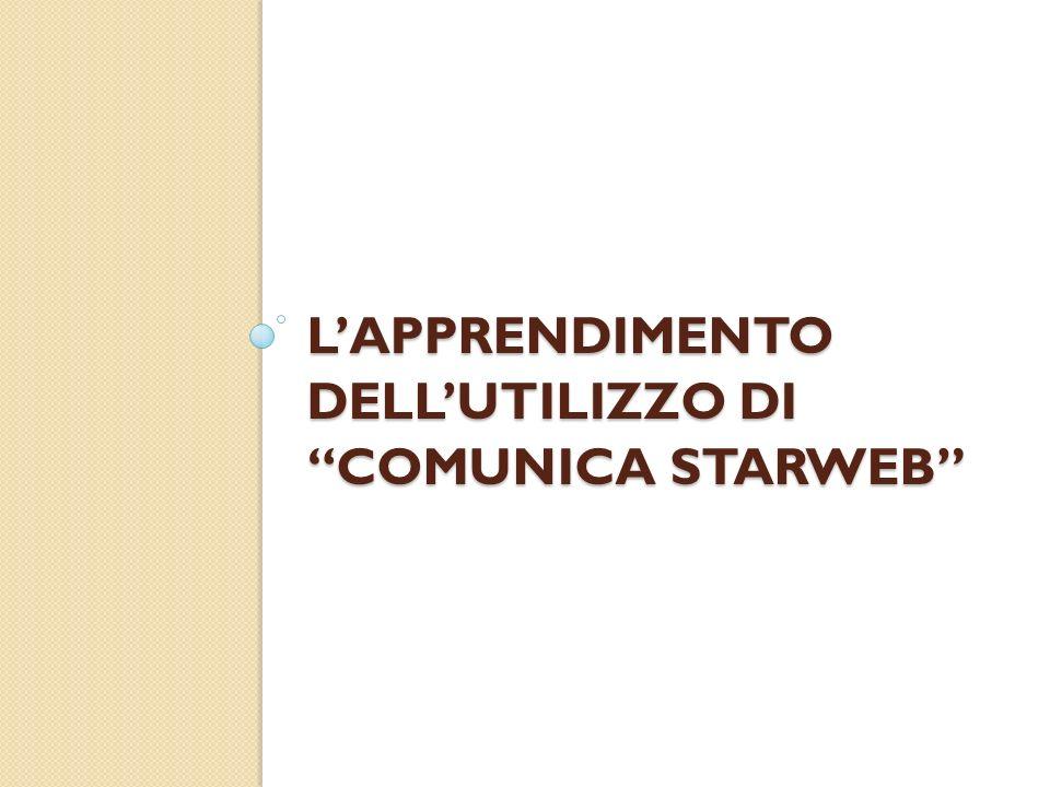 LAPPRENDIMENTO DELLUTILIZZO DI COMUNICA STARWEB