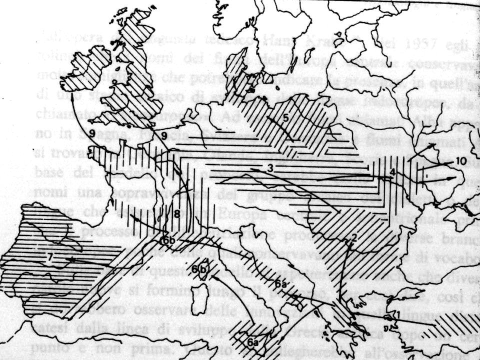 Nuova coltura incremento demografico dovuto alla maggiore disponibilità di cibo sovrappopolamento migrazione casuale – di portata ridotta – continua - radiale Teoria della dispersione neolitica indoeuropea (C.