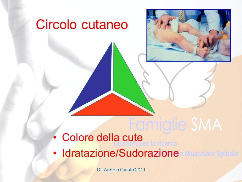 Dr. Angelo Giusto 2011 Circolo cutaneo Colore della cute Idratazione/Sudorazione
