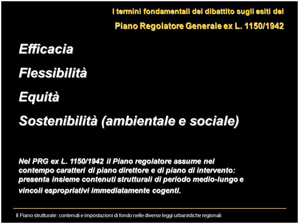 Il Piano strutturale: contenuti e impostazioni di fondo nelle diverse leggi urbanistiche regionali I termini fondamentali del dibattito sugli esiti de