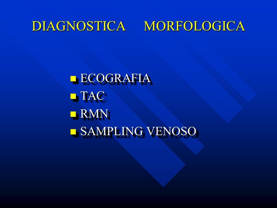 DIAGNOSTICA MORFOLOGICA ECOGRAFIA ECOGRAFIA TAC TAC RMN RMN SAMPLING VENOSO SAMPLING VENOSO ECOGRAFIA ECOGRAFIA TAC TAC RMN RMN SAMPLING VENOSO SAMPLI