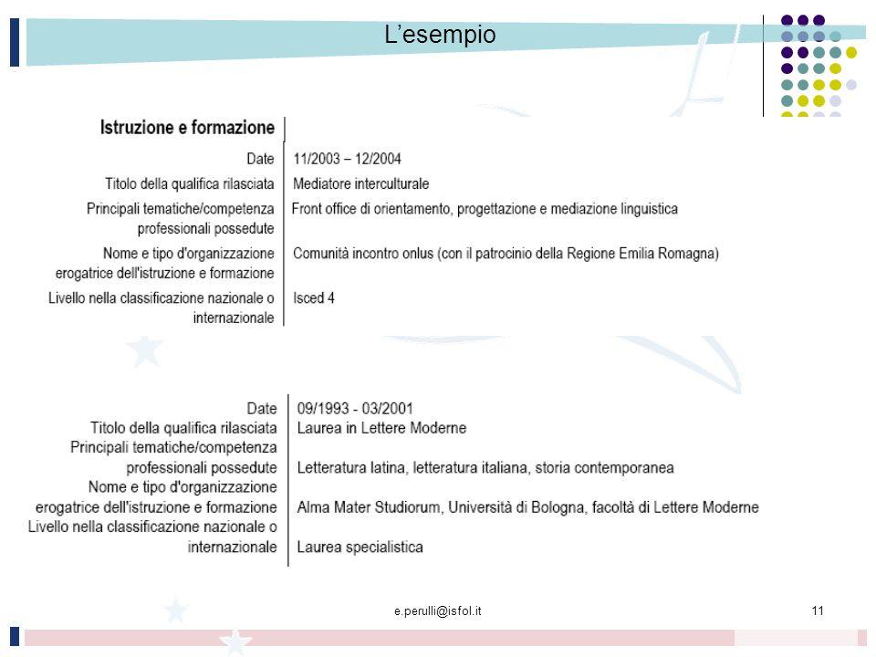 e.perulli@isfol.it11 Lesempio