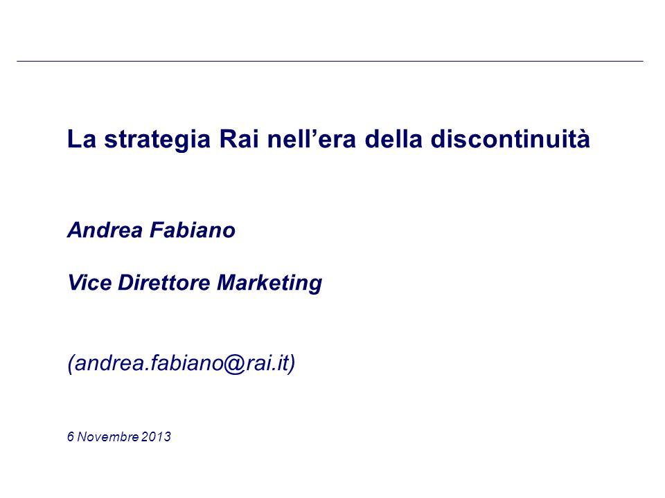 41 Bozza per discussione La strategia in campo web: Rai.tv