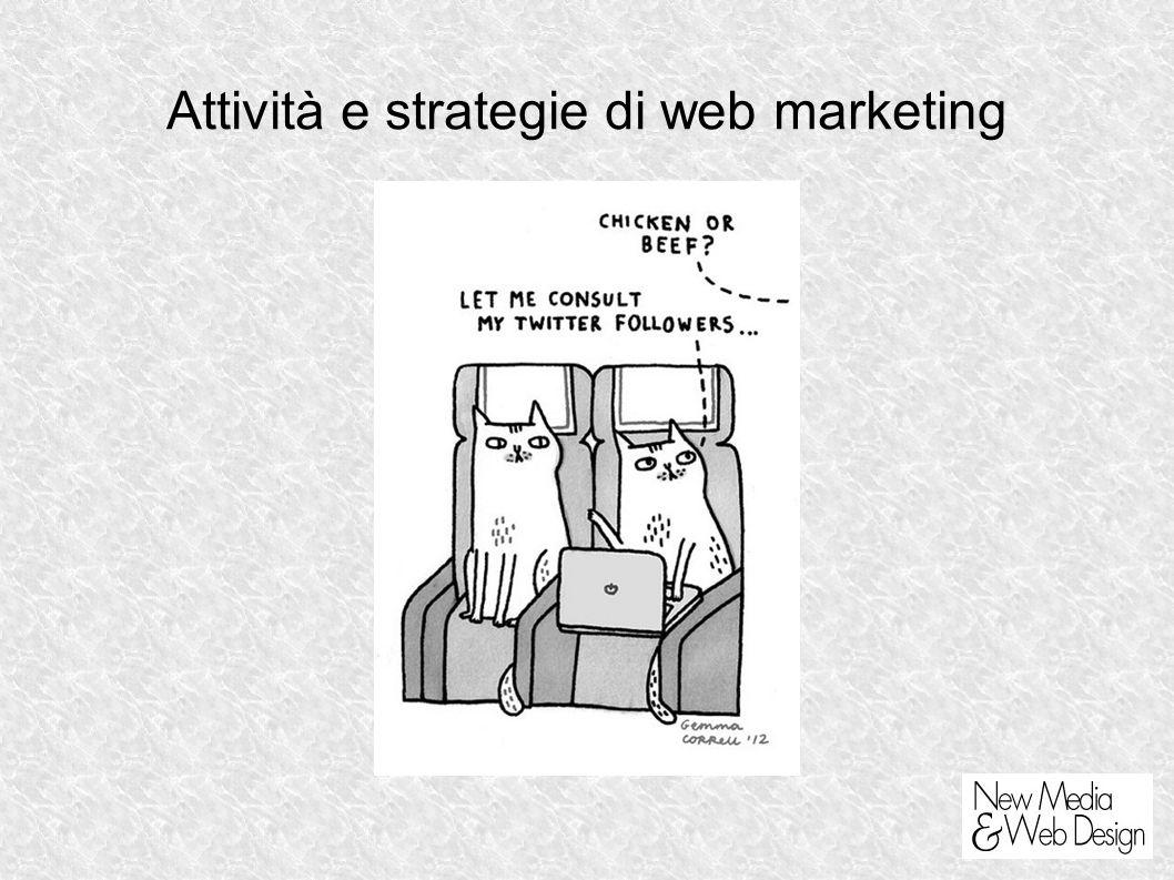 Attività e strategie di web marketing