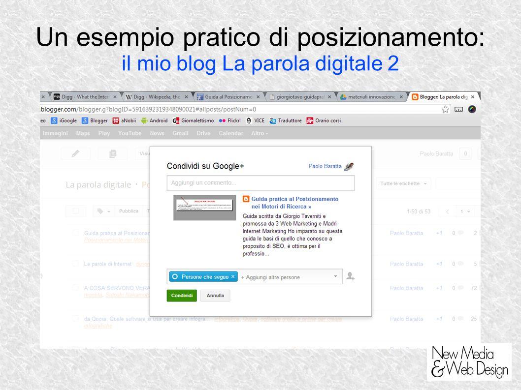 Un esempio pratico di posizionamento: il mio blog La parola digitale 2