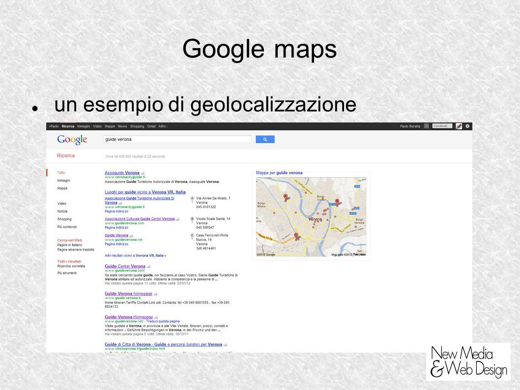Google maps un esempio di geolocalizzazione