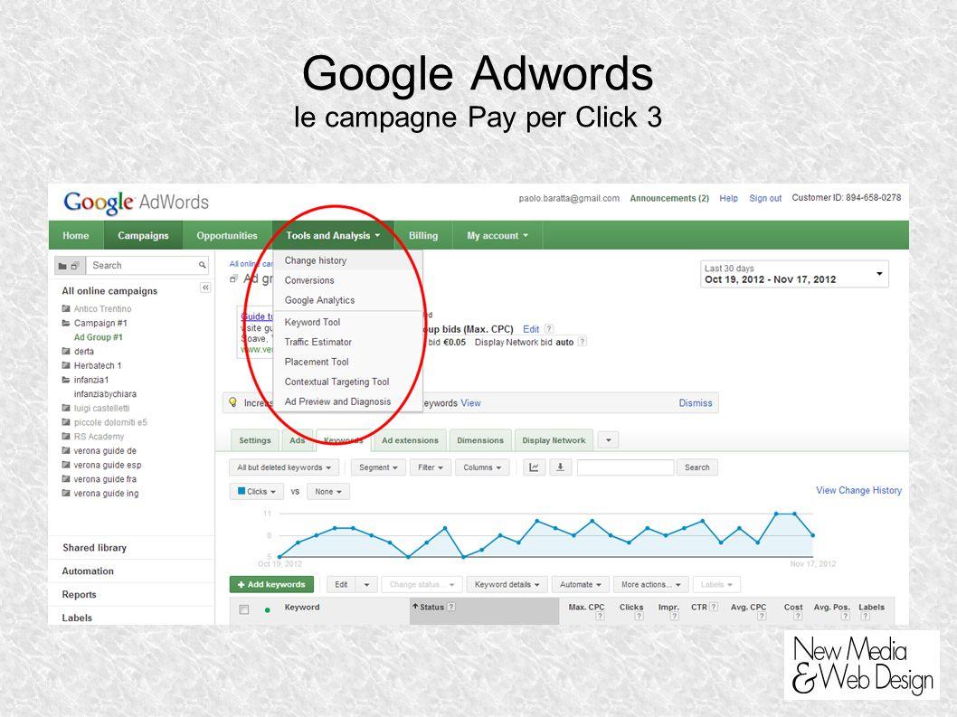Google Adwords le campagne Pay per Click 3