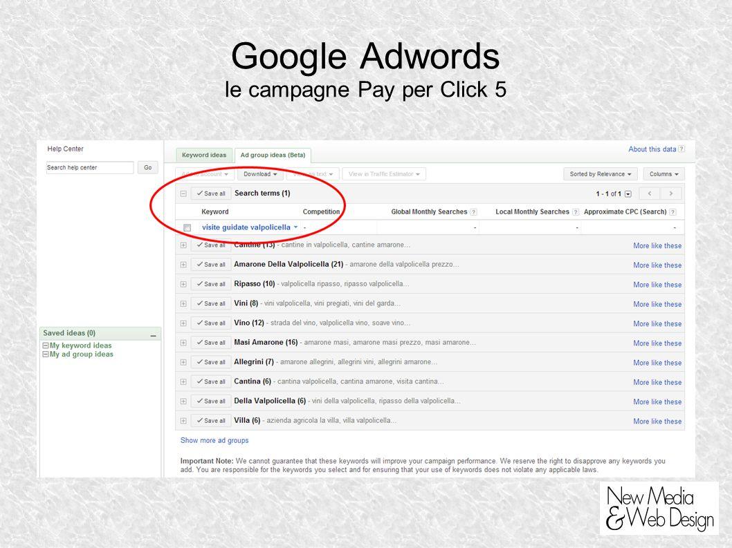 Google Adwords le campagne Pay per Click 5