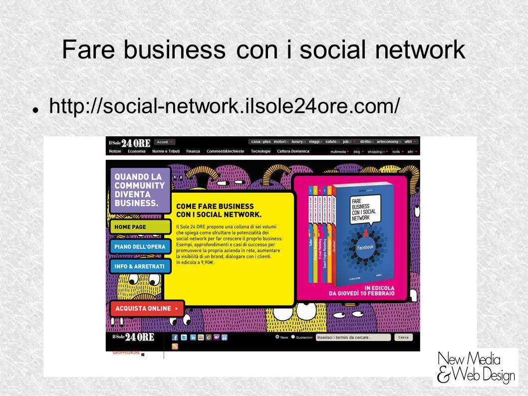 Fare business con i social network http://social-network.ilsole24ore.com/