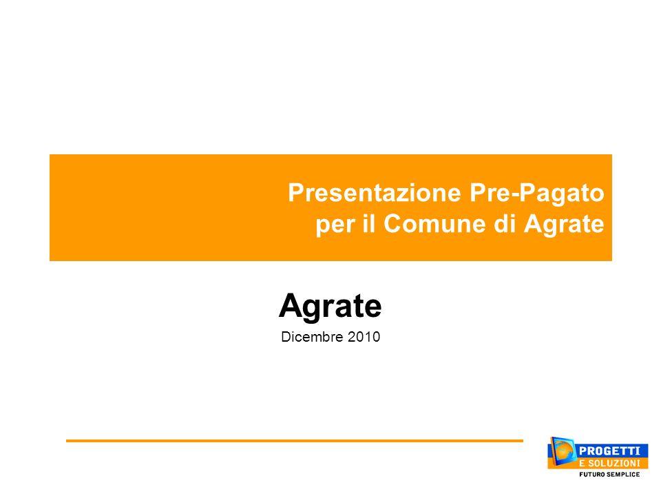 Presentazione Pre-Pagato per il Comune di Agrate Agrate Dicembre 2010