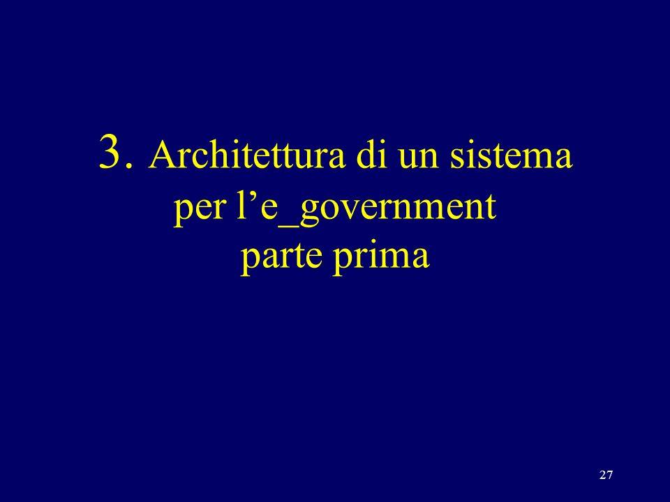 27 3. Architettura di un sistema per le_government parte prima