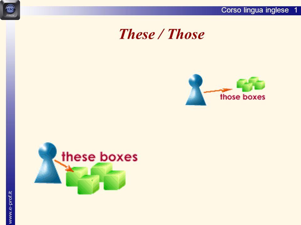 Corso lingua inglese 1 These / Those