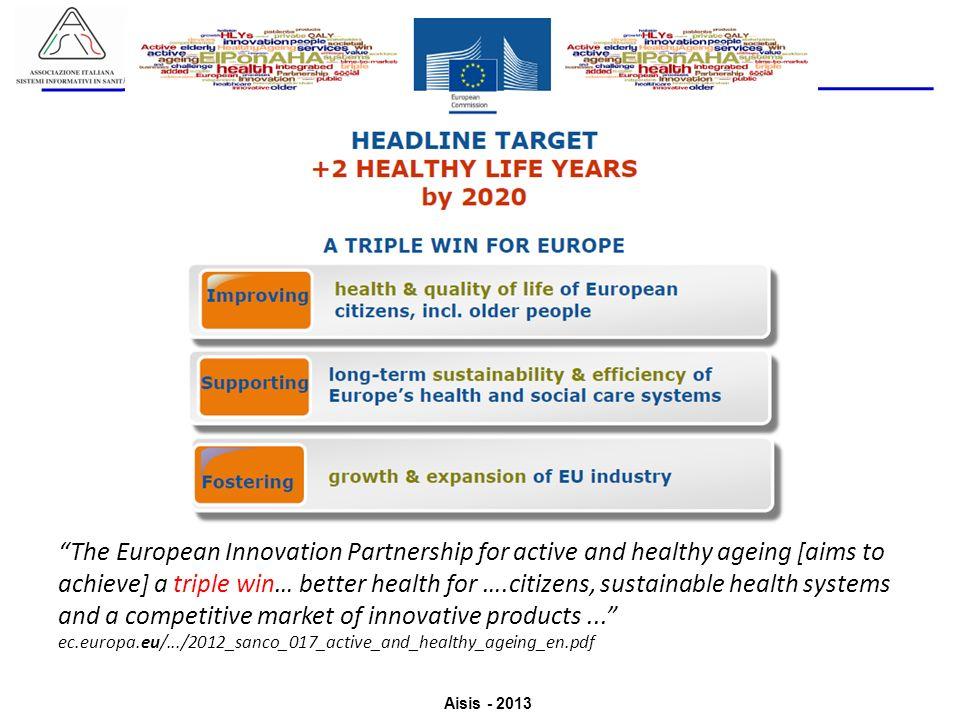 Aisis - 2013 Associazione Italiana Sistemi Informativi in Sanità Valutazione del Valore derivante dallutilizzo di ICT in Sanità The European Innovatio