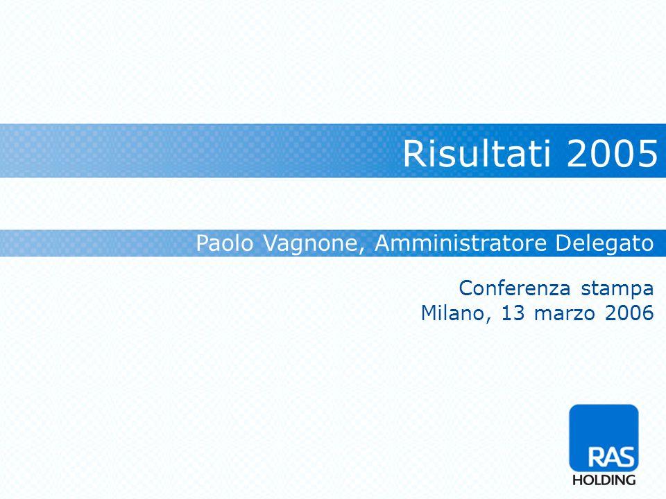 Risultati 2005 Paolo Vagnone, Amministratore Delegato Conferenza stampa Milano, 13 marzo 2006