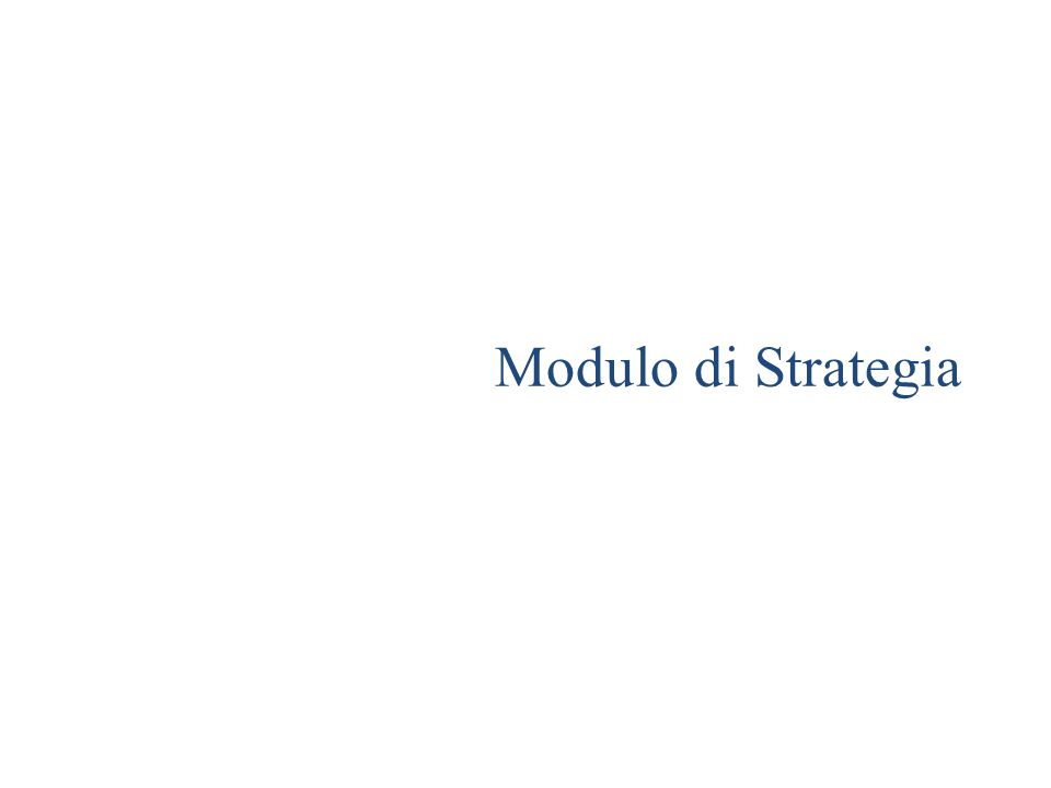 Modulo di Strategia