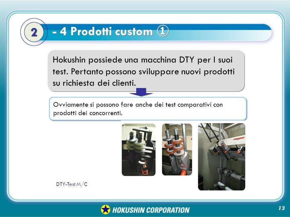 Hokushin possiede una macchina DTY per I suoi test.
