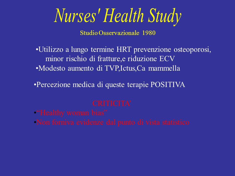 NursesHealth Study revisione 2005 Pz.