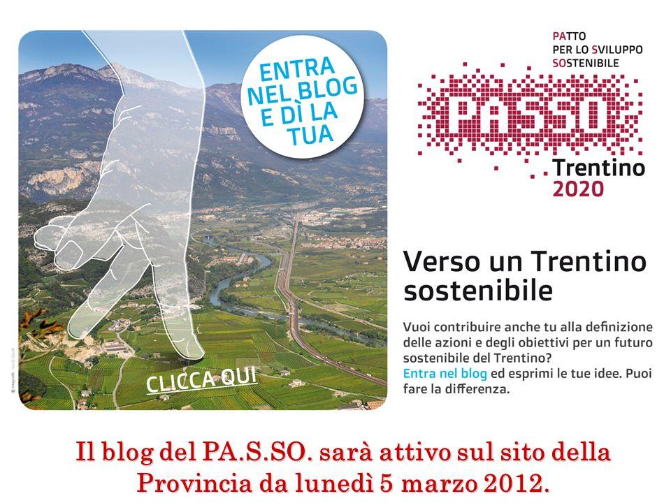 Il blog del PA.S.SO. sarà attivo sul sito della Provincia da lunedì 5 marzo 2012.