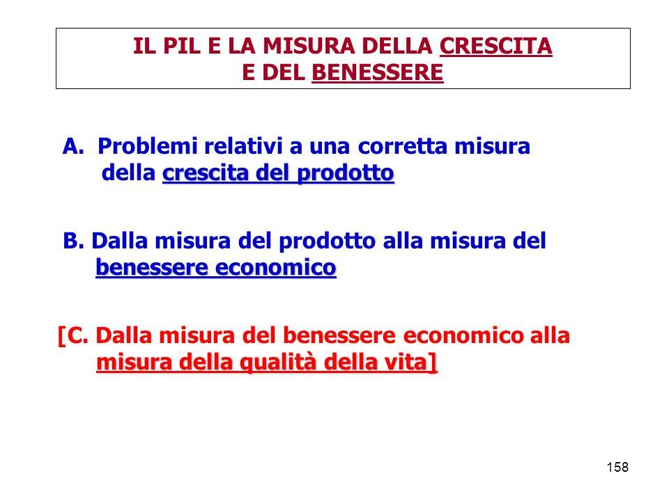 158 IL PIL E LA MISURA DELLA CRESCITA E DEL BENESSERE A.