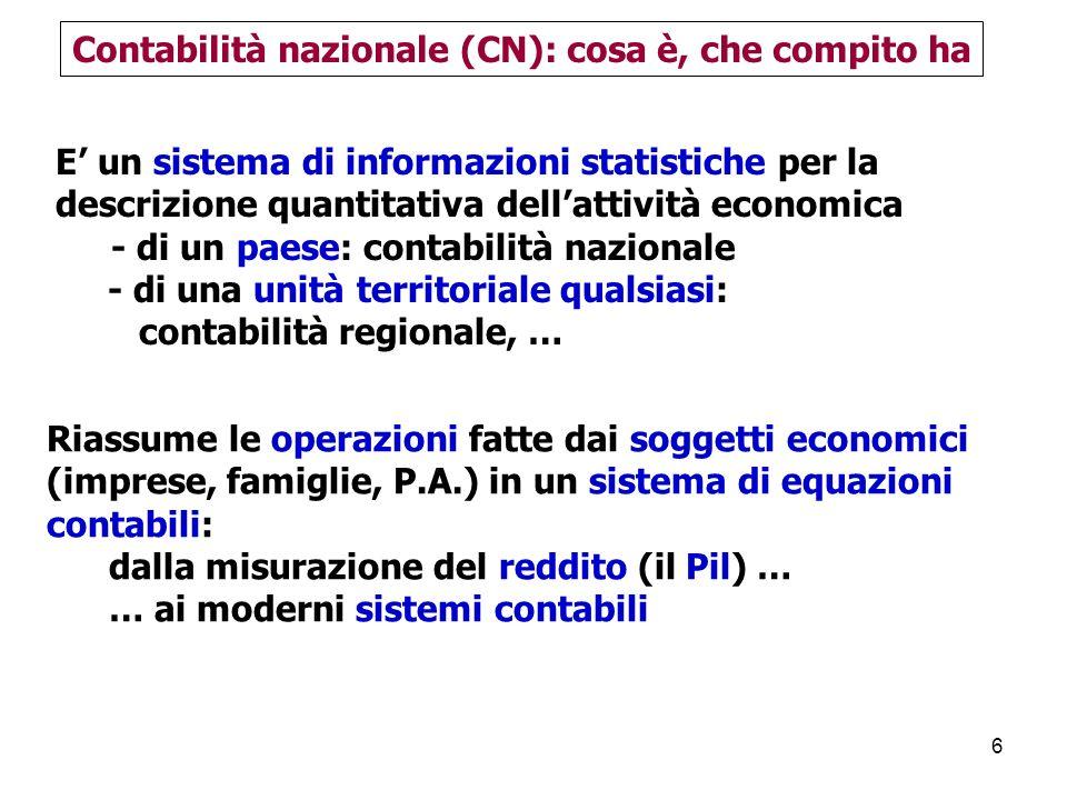 107 Dagli occupati residenti alle unità di lavoro Italia 2009 2009 Occupati residenti 23025 Occupati interni 24839 Unità di lavoro 24269 diff.