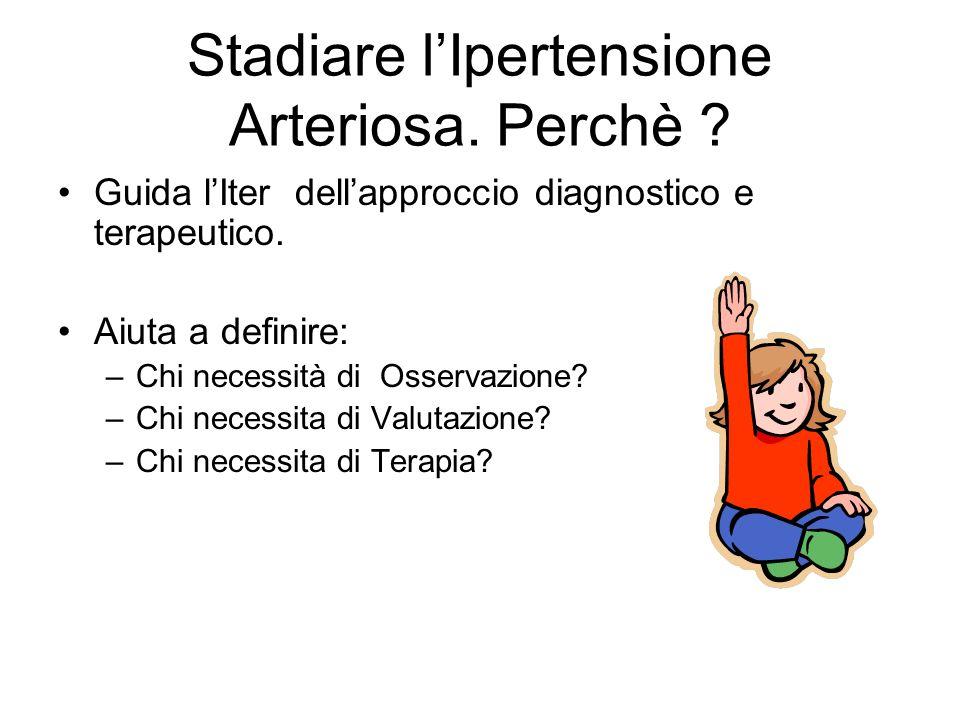 Stadiare lIpertensione Arteriosa.Perchè . Guida lIter dellapproccio diagnostico e terapeutico.