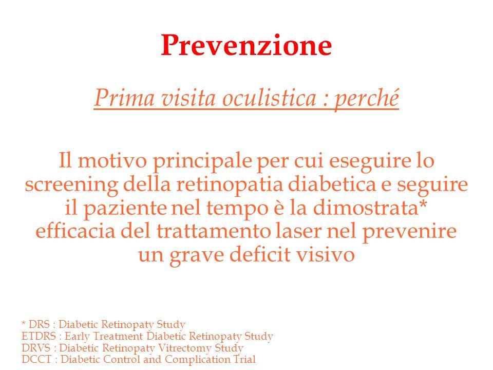 Prevenzione Prima visita oculistica : perché Il motivo principale per cui eseguire lo screening della retinopatia diabetica e seguire il paziente nel