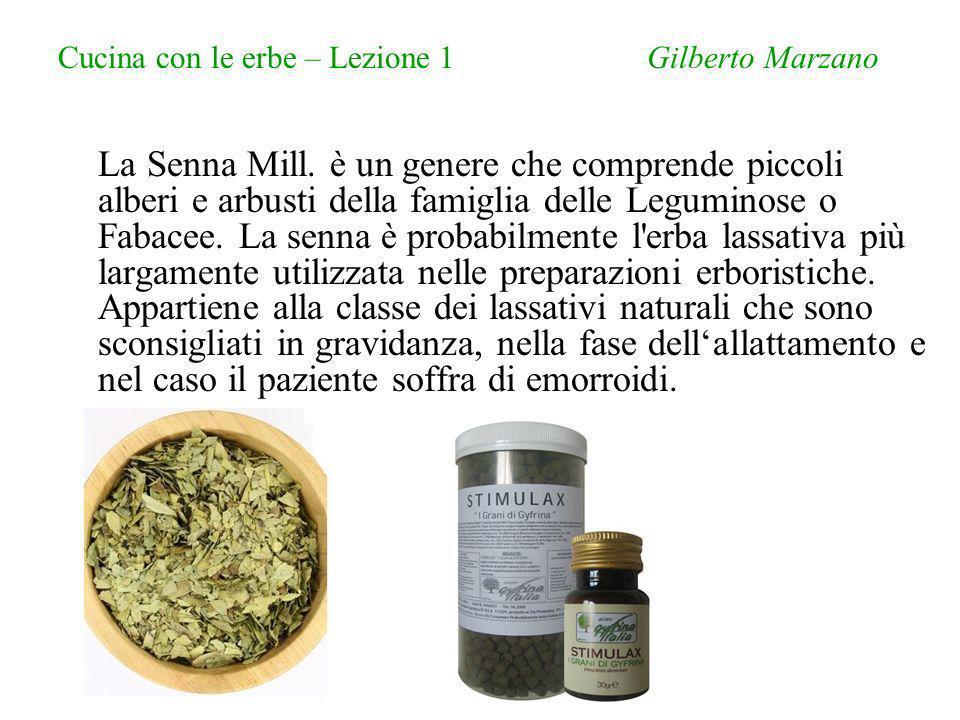Cucina con le erbe – Lezione 1 Gilberto Marzano La Senna Mill.