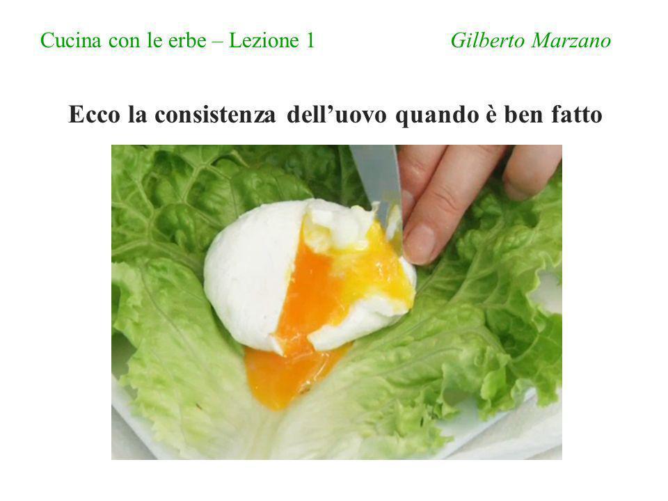 Cucina con le erbe – Lezione 1 Gilberto Marzano Ecco la consistenza delluovo quando è ben fatto