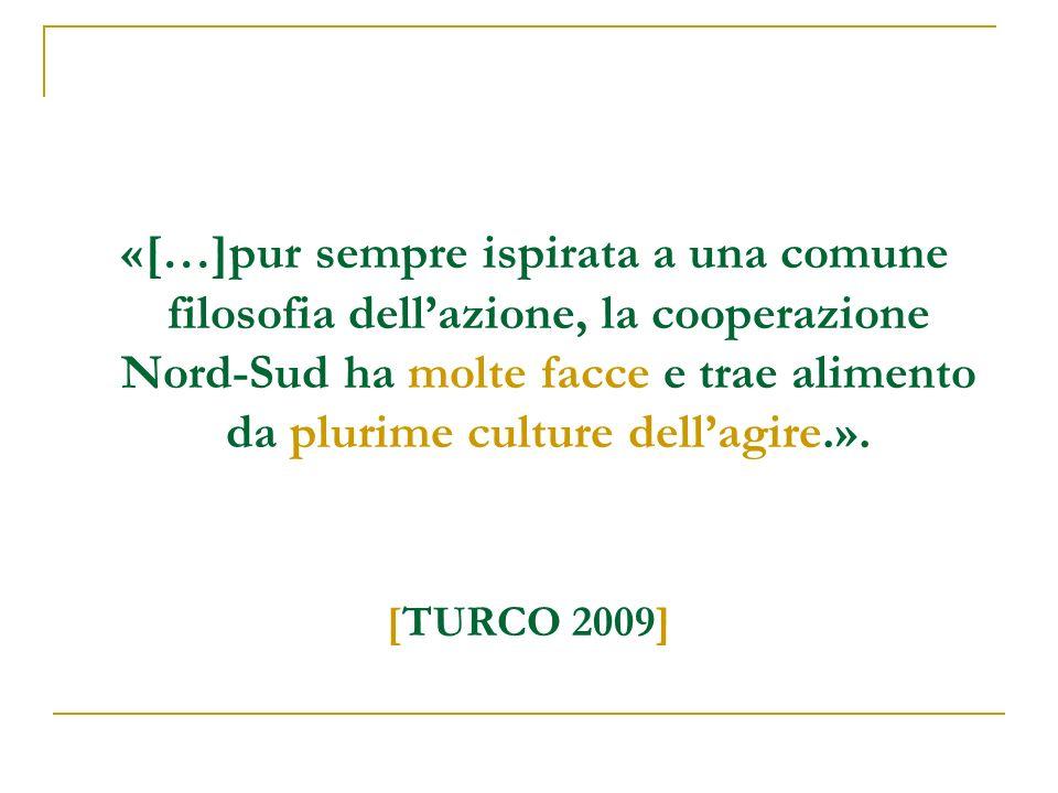 «[…]pur sempre ispirata a una comune filosofia dellazione, la cooperazione Nord-Sud ha molte facce e trae alimento da plurime culture dellagire.».