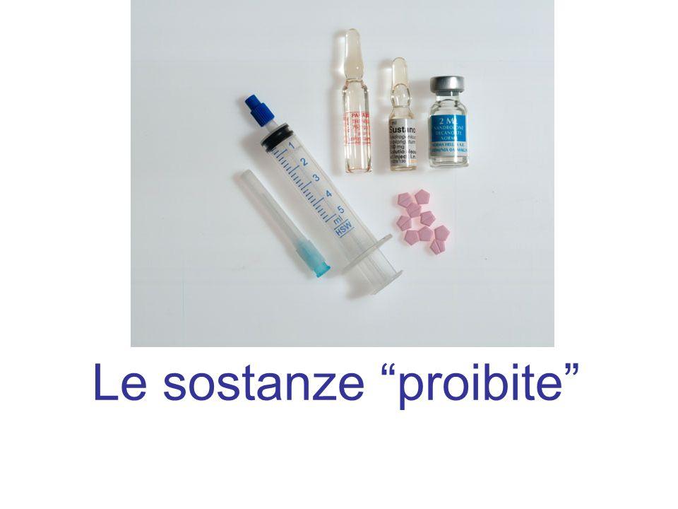 Le sostanze proibite