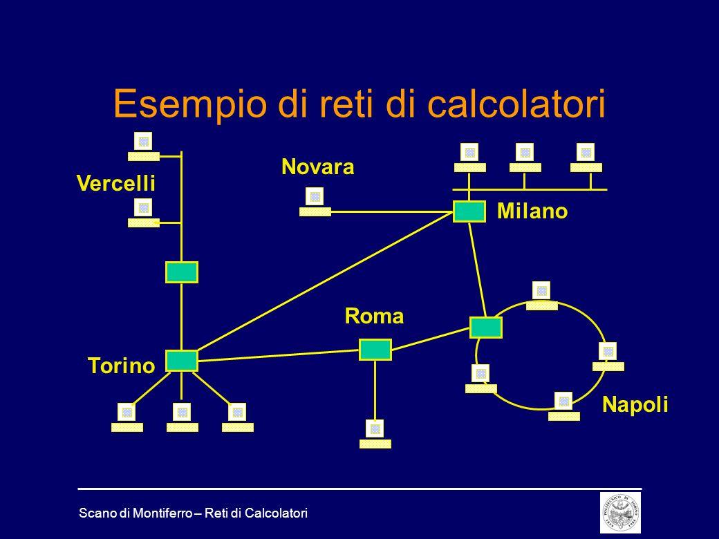 Scano di Montiferro – Reti di Calcolatori Esempio di reti di calcolatori Torino Milano Roma Napoli Novara Vercelli