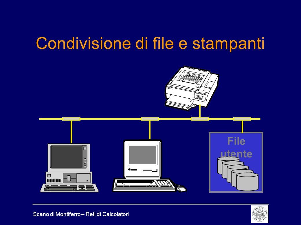 Scano di Montiferro – Reti di Calcolatori Condivisione di file e stampanti File utente