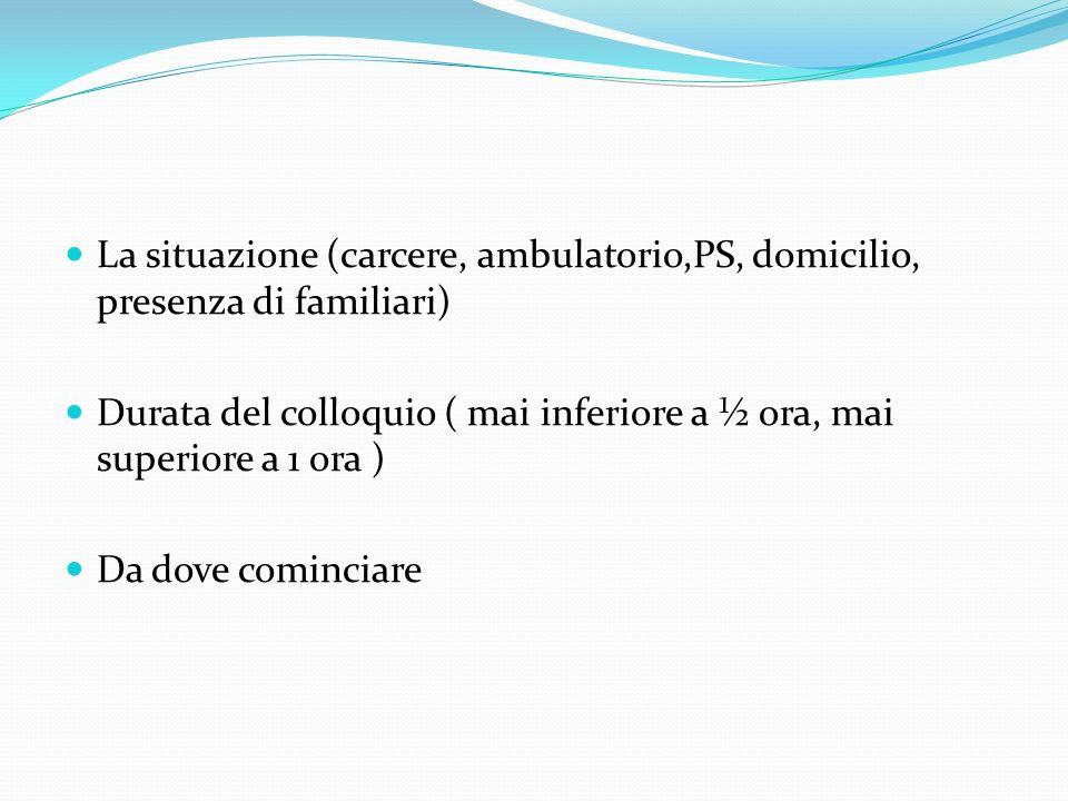 Esame delle condizioni mentali Psicopatologia 3.