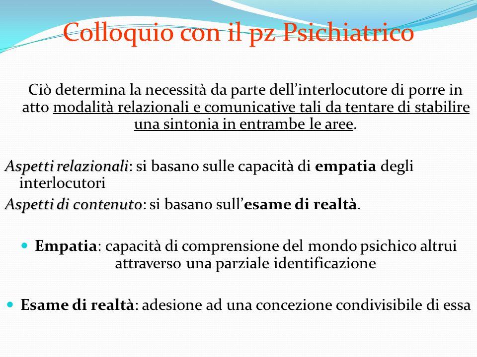 Esame delle condizioni mentali Psicopatologia 5.Pensiero B.Contenuto del pensiero -delirio -pensiero dominante -Fobia ( ) -Fobia (è una paura patologica persistente, irrazionale, esagerata e invariabile di alcuni tipi di stimoli e situazioni e comporta un desiderio irresistibile di evitare lo stimolo temuto)