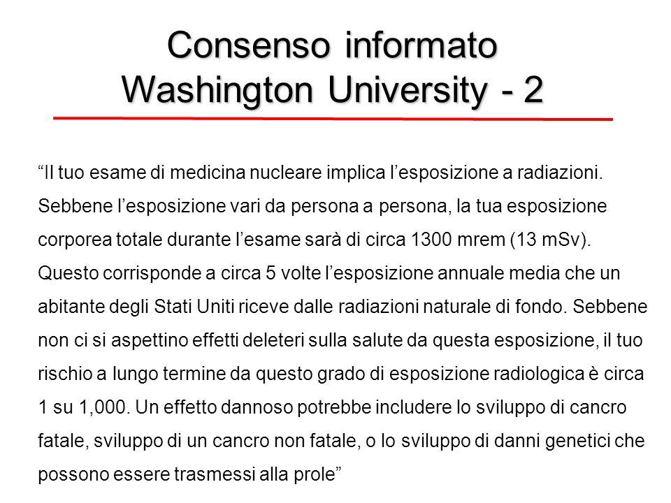 Il tuo esame di medicina nucleare implica lesposizione a radiazioni.
