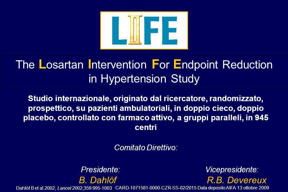 09-12-CZR-2009-IT-3199-SS Data deposito AIFA 13 ottobre 2009 Esperienza clinica con il losartan Losartan è protagonista di ampi studi clinici, comprendenti – 30.000 pazienti – 4 mega-trial (L II FE, OPTIMAAL, ELITE II, RENAAL) – > 4500 pubblicazioni Losartan, e regimi terapeutici basati su losartan, sono stati prescritti a 12 milioni di pazienti in tutto il mondo Losartan ha dimostrato un eccellente profilo di tollerabilità Dati statistici, MSD; Dahlöf B et al Am J Hypertens 1997; 10: 705 713; Dickstein K et al Am J Cardiol 1999; 83: 477 481; Pitt B et al Lancet 2000; 355: 1582 1587; Brenner BM et al N Eng J Med 2001; 345(12): 861 869; Bloom BSClin Ther 1998;20(4):671-681; Goldberg et al Am J Cardiol 1995;75:793-795.