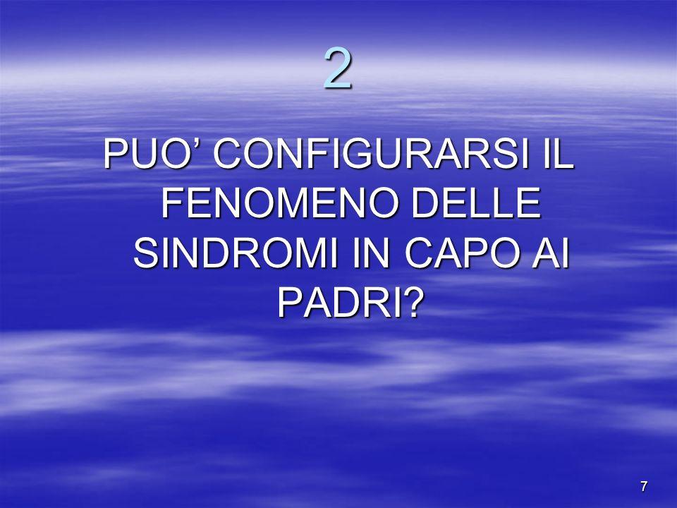 7 2 PUO CONFIGURARSI IL FENOMENO DELLE SINDROMI IN CAPO AI PADRI?