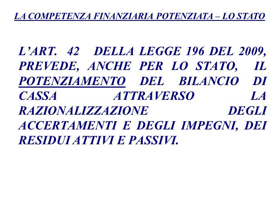 Larticolo 14 del DPCM 28 dicembre 2011 prevede che nel corso del 2012 siano riaccertati tutti i residui attivi e passivi al fine di adeguare lo stock di residui esistenti al principio della competenza finanziaria potenziata (con decorrenza 31 dicembre 2012 o 1° gennaio 2012).