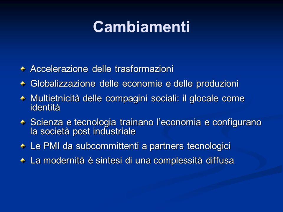 Sviluppo territoriale, saperi, innovazione L innovazione nasce da un processo di integrazione delle conoscenze Per questo, lo sviluppo territoriale passa necessariamente per laccumulazione di competenze, conoscenze, creatività e talenti Stimolare questa concentrazione è un processo che richiede una governance multilivello