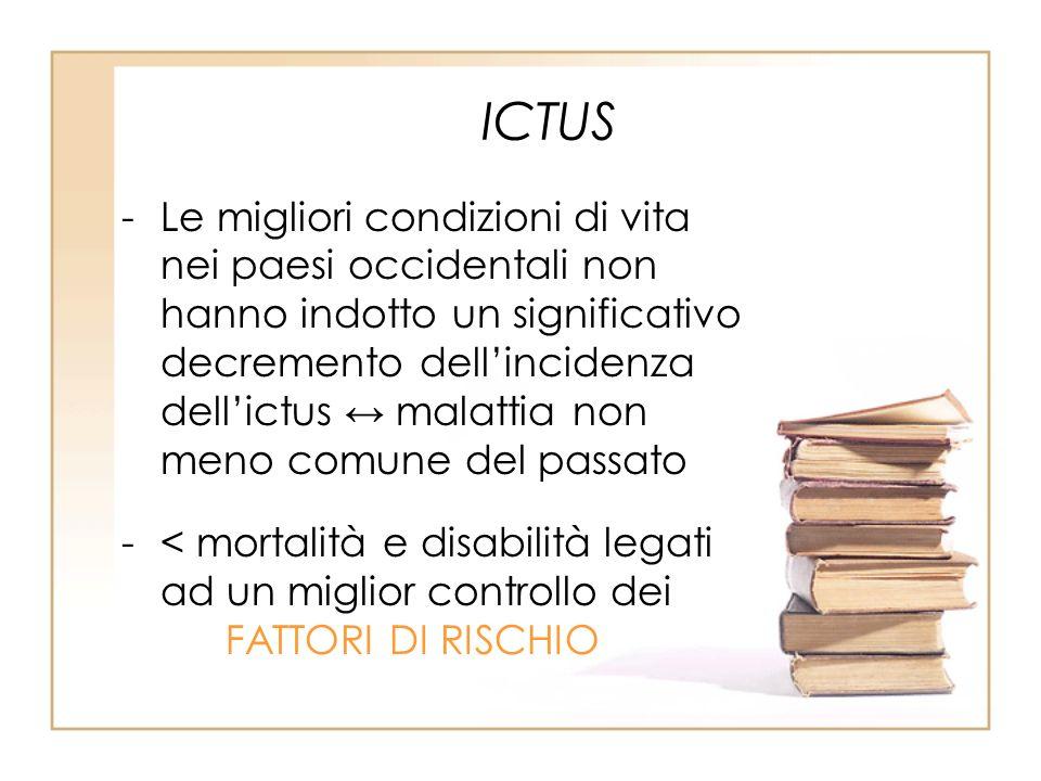 ICTUS -Le migliori condizioni di vita nei paesi occidentali non hanno indotto un significativo decremento dellincidenza dellictus malattia non meno co