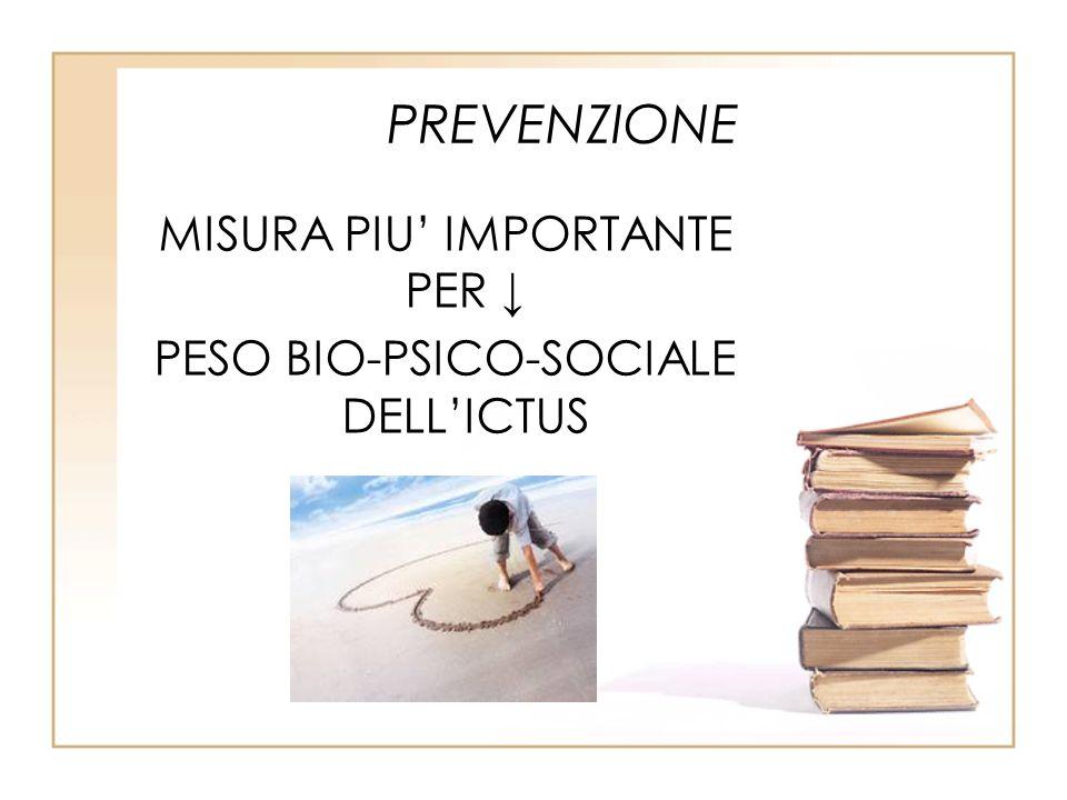 PREVENZIONE MISURA PIU IMPORTANTE PER PESO BIO-PSICO-SOCIALE DELLICTUS