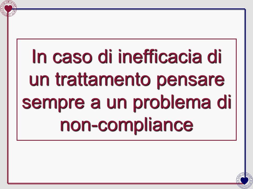 In caso di inefficacia di un trattamento pensare sempre a un problema di non-compliance