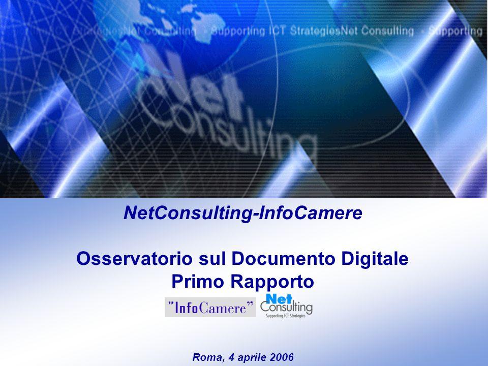 Osservatorio sul Documento Digitale 4 aprile 2006– Slide 0 NetConsulting-InfoCamere Osservatorio sul Documento Digitale Primo Rapporto Roma, 4 aprile