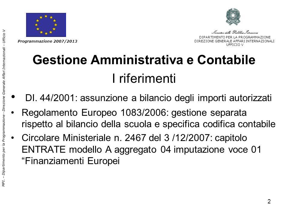2 Gestione Amministrativa e Contabile I riferimenti DI.